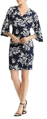 Ralph Lauren Faux-Wrap Floral Dress