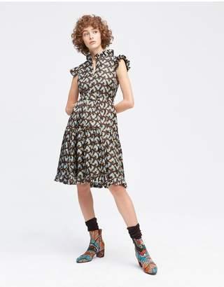 La Doublej Choco Galletti Zip Sassy Dress