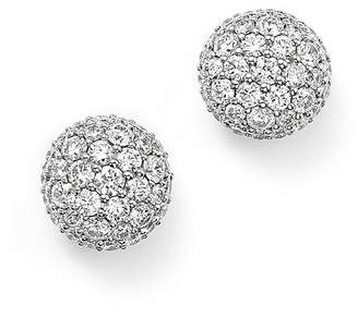Bloomingdale's Diamond Ball Stud Earrings in 14K White Gold, 1.10 ct. t.w. - 100% Exclusive