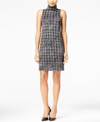 kensie Herringbone Turtleneck Shift Dress $69 thestylecure.com