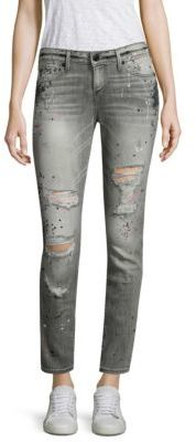 True Religion Halle Distressed Skinny Jeans