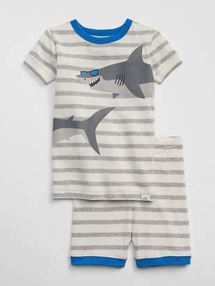 Gap Shark Stripe Short PJ Set