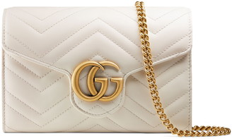 b16131f33d Gucci GG Marmont Matelasse Leather Wallet on a Chain