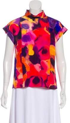 Chanel Silk Watercolor Blouse