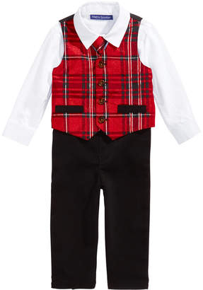 Bonnie Baby Baby Boys 4-Pc. Holiday Plaid Vest, Shirt, Pants & Tie Set