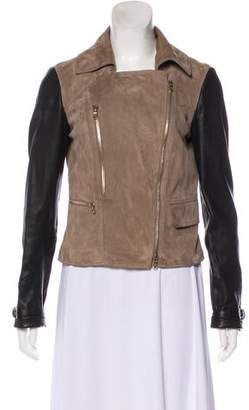 Tod's Leather Collared Jacket