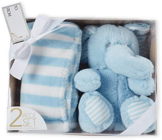 Baby Essentials Lila & Jack Two-Piece Elephant Plush Toy & Baby Blanket Gift Set