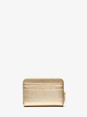 MICHAEL Michael Kors Mercer Small Metallic Pebbled Leather Wallet