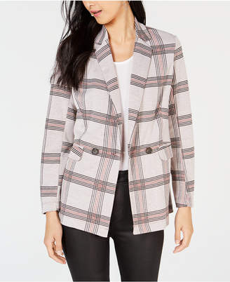 Project 28 Nyc Plaid Double-Breasted Blazer