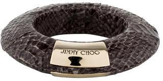 Jimmy Choo Skyla Snakeskin Bangle $125 thestylecure.com