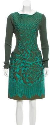 Philosophy di Alberta Ferretti Printed Knit Midi Dress