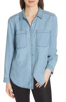 Eileen Fisher Organic Cotton Chambray Shirt