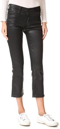 AG The Jodi Crop Leatherette Jeans $245 thestylecure.com