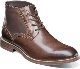 Nunn Bush Mens Chukka Boots Flat Heel Lace-up