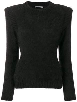 Alberta Ferretti structured shoulder jumper