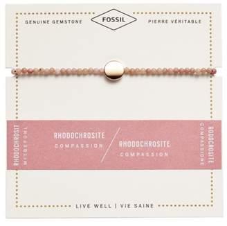 Fossil Rhodochrosite Disc Bracelet jewelry ROSE GOLD