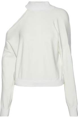 Alice + Olivia Finnigan One-Shoulder Stretch-Knit Sweater