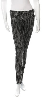 Sandro Printed Skinny Jeans $85 thestylecure.com