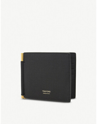 Tom Ford Textured leather money clip wallet