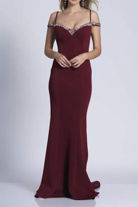 Dave and Johnny Classic Beaded Gown