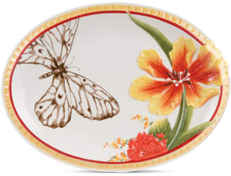 Fitz & Floyd Flower And Butterfly Platter
