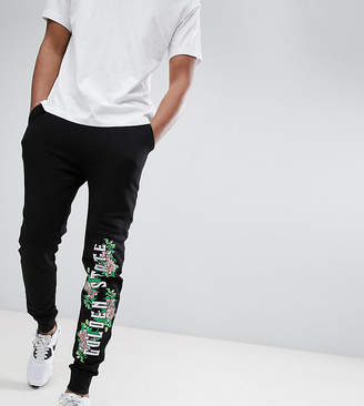 Asos DESIGN Tall Skinny Joggers With Floral Print