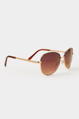 francesca's Opehila Square Sunglasses - Brown