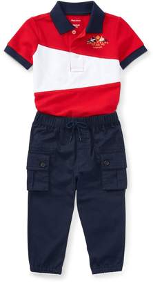Ralph Lauren Cotton Polo & Jogger Pant Set