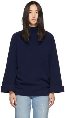 A.P.C. Navy Big Pullover Turtleneck