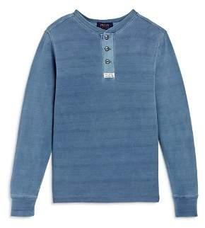 Ralph Lauren Boys' Piqué Henley Shirt - Big Kid