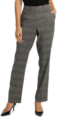 Plaid Suit Straight Leg Pant