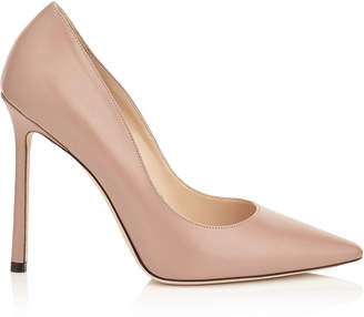 Jimmy Choo ROMY 110 Ballet Pink Kid Leather Pointy Toe Pumps