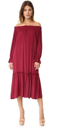 re:named Off Shoulder Midi Dress $77 thestylecure.com