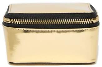 Theory Small Metallic Leather Storage Box