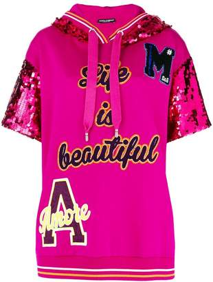 Dolce & Gabbana life is beautiful patch top