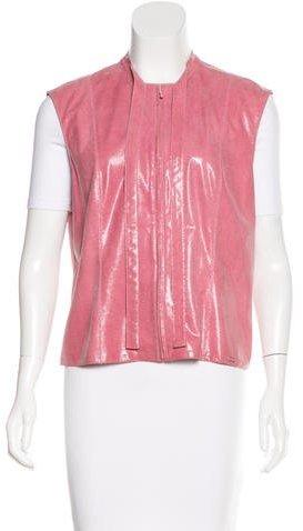 ChanelChanel Embossed Leather Vest