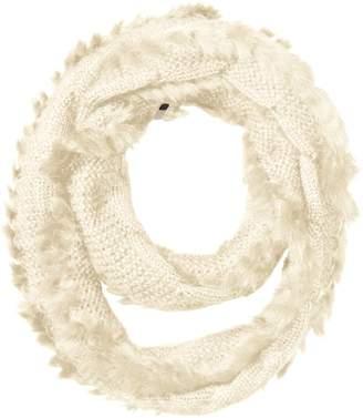 Rudsak Women's Nana Cable Knit Scarf with Fur Trim