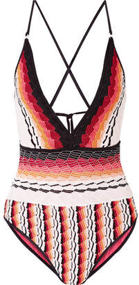 Missoni Mare Crochet-knit Swimsuit - Orange
