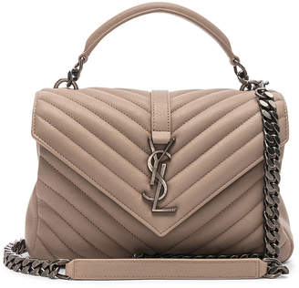 Saint Laurent Medium Monogramme College Bag in Light Natural | FWRD