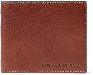 Brunello Cucinelli Full-Grain Leather Billfold Wallet - Men - Brown
