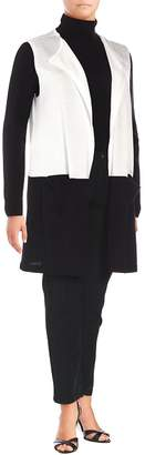 Vince Camuto Women's Colorblocked Sleeveless Duster Vest - New Ivory, Size 1x (14-16)