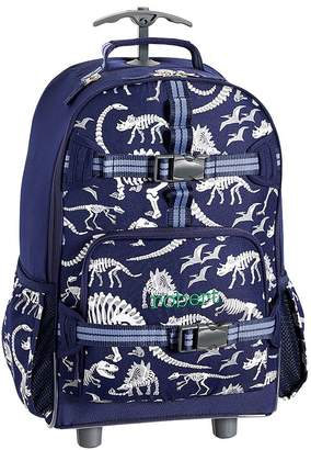 Pottery Barn Kids Mackenzie Blue Dino Glow-in-the-Dark Lunch Bags
