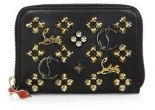 Christian Louboutin  Christian Louboutin Panettone Logo-Detail Studded Leather Coin Purse