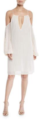 Zac Posen Marianne Cold-Shoulder Beaded Dress