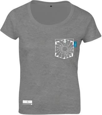 ANCHOR & CREW - Athletic Grey Explorer Print Organic Cotton T-Shirt (Womens)