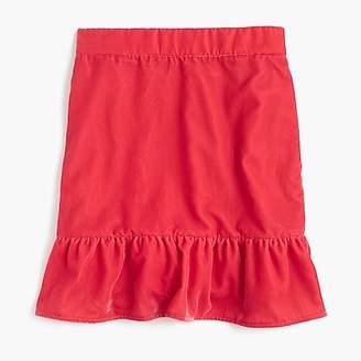 J.Crew PetitePeplum velvet skirt