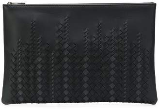 Bottega Veneta woven texture clutch bag