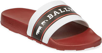 Bally Men's Ani 8 Rubber Pool Slide Sandals