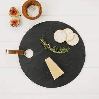 Marquis & Dawe Round Slate Board With Copper Hook