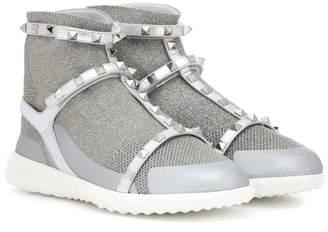 Valentino Rockstud metallic sneakers